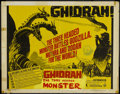 "Movie Posters:Science Fiction, Ghidrah, the Three-Headed Monster (Toho, 1964). Half Sheet (22"" X28""). Science Fiction...."