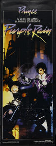 "Movie Posters:Rock and Roll, Purple Rain (Warner Brothers, 1984). French Door Panel (23"" X 62"").Rock and Roll...."