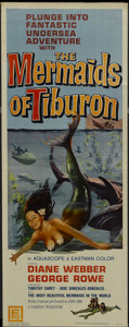 "Movie Posters:Fantasy, The Mermaids of Tiburon (Film Group, 1962). Insert (14"" X 36"").Fantasy...."