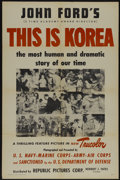 """Movie Posters:Documentary, This is Korea (Republic, 1951). One Sheet (27"""" X 41""""). War Documentary...."""