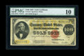Large Size:Gold Certificates, Fr. 1215 $100 1922 Gold Certificate PMG Very Good 10....