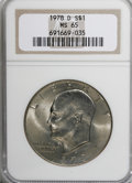 Eisenhower Dollars: , 1978-D $1 MS65 NGC. NGC Census: (2111/170). PCGS Population (683/240). Mintage: 33,012,890. Numismedia Wsl. Price for NGC/P...