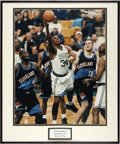 """Autographs:Photos, Paul Pierce Signed Oversized Photograph. The man known for manyyears as """"The Franchise"""" to fans of the Celtic green is see..."""
