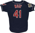 Baseball Collectibles:Uniforms, 1995 Charles Nagy World Series Game Worn Jersey. 1995's ClevelandIndians made it to the World Series, helped greatly by Ch...