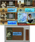 Autographs:Sports Cards, 2002-04 Limited Edition Signature Cards, Hall of Fame Group Lot of 5. Group of five special insert cards from issues releas...