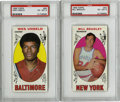 Basketball Cards:Lots, 1969-70 Topps Bill Bradley and Wes Unseld Rookie Cards, PSA-GradedGroup Lot of 2. Brilliant pair of Hall of Fame rookie ca...