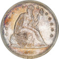 Seated Dollars, 1844 $1 MS62 NGC. CAC....