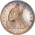 Seated Dollars, 1849 $1 MS63 NGC....