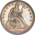Seated Dollars, 1862 $1 MS63 NGC. CAC....
