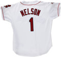 Baseball Collectibles:Uniforms, 1995 Dave Nelson Game-Worn Jersey. A former player at the Major League level, Dave Nelson held the post of base coach for t...