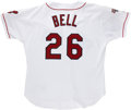 Baseball Collectibles:Uniforms, 1995 Buddy Bell Game Worn Jersey. After a successful 18-year career as a player in the majors, Buddy Bell went on to enjoy ...