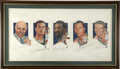 Basketball Collectibles:Others, Boston Celtics Legacy Multi-Signed Lithograph. Brilliant lithographfeatures the realistic artistic renditions of five of t...