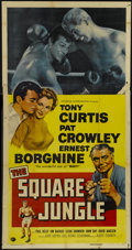 "Movie Posters:Sports, The Square Jungle (Universal, 1955). Three Sheet (41"" X 81""). Sports Drama...."