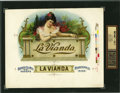 Antique Stone Lithography:Cigar Label Art, La Vianda Cigar Inner Label Proof by the American LithographCo., New York, 1900,...