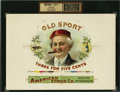 Antique Stone Lithography:Cigar Label Art, Old Sport Cigar Inner Label Proof,...
