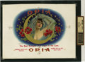 Antique Stone Lithography:Cigar Label Art, Opia Inner Proof Cigar Label for Barnes, Smith and Company, New York....