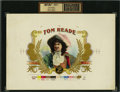 Antique Stone Lithography:Cigar Label Art, Tom Reade Inner Proof Cigar Label by Heywood, Strasser &Voigt Litho. Co., New York....