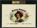 Antique Stone Lithography:Cigar Label Art, Royal Pirate Inner Proof Cigar Label....