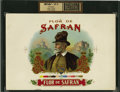 Antique Stone Lithography:Cigar Label Art, Flor de Safran Inner Proof Cigar Label Copyrighted 1902 byM. Safran....