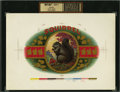 Antique Stone Lithography:Cigar Label Art, Squirrel Inner Proof Cigar Label....