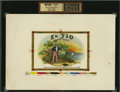 Antique Stone Lithography:Cigar Label Art, El Tio de Porto Rico Inner Proof Cigar Label....