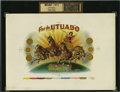 Antique Stone Lithography:Cigar Label Art, Flor de Utuado Inner Proof Cigar Label Copyrighted 1902....