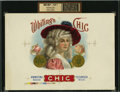 Antique Stone Lithography:Cigar Label Art, Whiting's Chic Inner Proof Cigar Label for W. W. Whiting, Tecumseh, Mich....