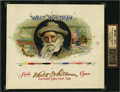 Antique Stone Lithography:Cigar Label Art, Walt Whitman With Signature Inner Proof Cigar Label byHeywood, Strasser & Voigt Litho. Co. N.Y....