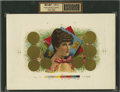 Antique Stone Lithography:Cigar Label Art, Havana Beauty (Untitled) Inner Proof Cigar Label....