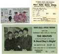 Music Memorabilia:Tickets, The Beatles - 1964 Jacksonville, Florida Concert Ticket and RelatedMemorabilia (1964). One day after Hurricane Dora struck... (Total:4 Item)
