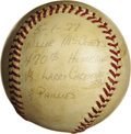 Baseball Collectibles:Balls, 1977 Willie McCovey Career #470 Home Run Baseball. The man whose proficiency with directing home runs over the right field ...
