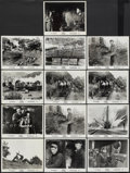 "Movie Posters:War, The Train (United Artists, 1965). Pressbook (13.25"" X 18"") andBlack and White Stills (13). War.... (Total: 14 Items)"
