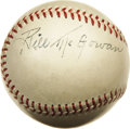 "Autographs:Baseballs, Early 1950's Bill McGowan Single Signed Baseball. ""Single signed?"" you ask. ""What about all those other autographs?"" Well..."