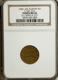 Civil War Merchants, Undated D.L. Wing & Co., Albany, NY, MS64 NGC. Fuld-NY10H-4a.Misattributed as Ful-NY10H-3aa by NGC....