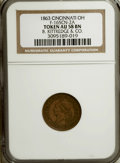 Civil War Merchants, 1863 B. Kittredge & Co., Cincinnati, OH, AU58 NGC.Fuld-OH165CN-2a....