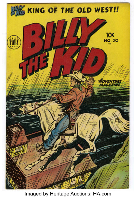 Billy the Kid Adventure Magazine #20 Canadian edition (Toby Publishing, 1954) Condition: VF+....