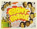 "Movie Posters:Black Films, Ebony Parade (Astor Pictures, 1947). Half Sheet (22"" X 28"")...."