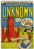 Golden Age (1938-1955):Horror, Adventures Into The Unknown #61 (ACG, 1955) Condition: VF....