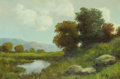 Fine Art - Painting, American:Modern  (1900 1949)  , WARD SHADOMY (American, 20th Century). Summer Landscape. Oilon canvas. 24 x 36 inches (61.0 x 91.4 cm). Signed lower ri...