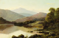 Fine Art - Painting, European:Antique  (Pre 1900), THOMAS SPINKS (British, 1842-1937). A View on LakeUllswater, 1873. Oil on canvas. 24 x 36 inches (61.0 x 91.4cm). Sign...