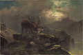 Fine Art - Painting, European:Antique  (Pre 1900), CLARENCE ROE (British, 1850-1909). Bellowing Elk. Oil oncanvas. 16 x 24 inches (40.6 x 61.0 cm). Signed lower right:...