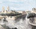 Fine Art - Painting, European:Modern  (1900 1949)  , MAX JACOB (French, 1876-1944). View of the City. Gouache on paper. 12-1/2 x 15-1/2 inches (31.8 x 39.4 cm). Signed lower...