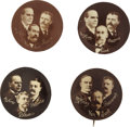 Political:Pinback Buttons (1896-present), McKinley & Roosevelt: Quartet of Coat-tail Pins.... (Total: 4 Items)