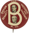Political:Posters & Broadsides (1896-present), William Jennings Bryan: 1908 Bennett for Governor West Virginia Coat-tail....