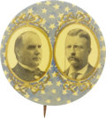 Political:Pinback Buttons (1896-present), McKinley & Roosevelt: Jugate Pictures on a Starry Background....