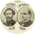 "Political:Pinback Buttons (1896-present), William McKinley: ""The Old Guard"" Picturing John C. Frémont,..."