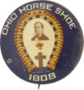 "Political:Pinback Buttons (1896-present), William Jennings Bryan: 1908 ""Ohio Horse Shoe"" Pin...."