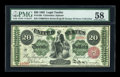 Large Size:Legal Tender Notes, Fr. 126b $20 1863 Legal Tender PMG Choice About Unc 58....