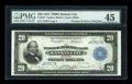Large Size:Federal Reserve Bank Notes, Fr. 827 $20 1915 Federal Reserve Bank Note PMG Choice Extremely Fine 45....