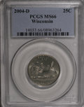 Statehood Quarters, 2004-D 25C Wisconsin MS66 PCGS. PCGS Population (124/674).Numismedia Wsl. Price for NGC/PCGS coin in M...